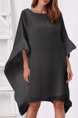 Batwing Sleeve Chiffon Dress