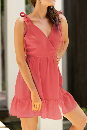 Bowknot Strap Backless Dress