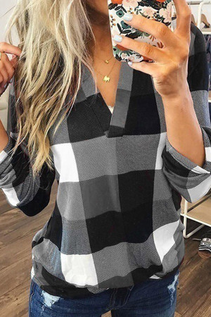 Casual Checked Print Shirt