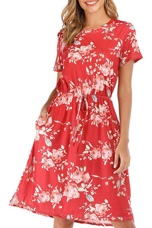 Casual Floral Print Dress