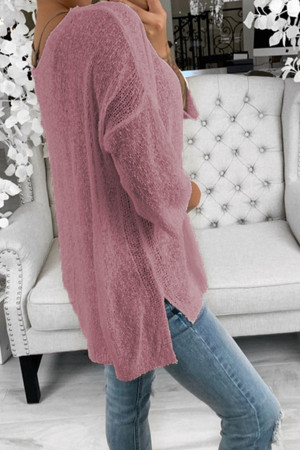 Casual Solid V-neck Sweater