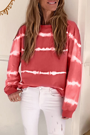 Casual Striped Sweatshirt