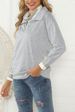 Casual Zipper-collar Sweatshirt