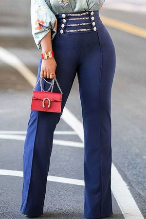 Chain High Waist Pants