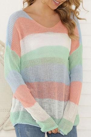 Color-block Loose Sweater