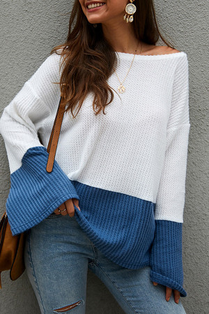 Color Block Loose Sweater