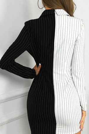 Color Block Striped Dress