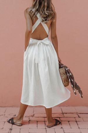 Criss Cross Backless  Dress