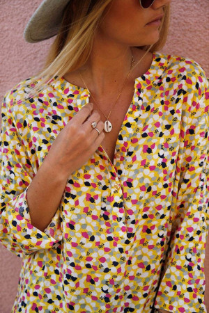 Cute Print V-neck Blouse