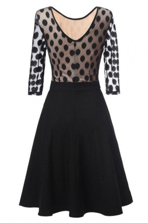 Polka Dot Patchwork Dress