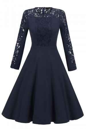 Lace Fit And Flare Homecoming Dress