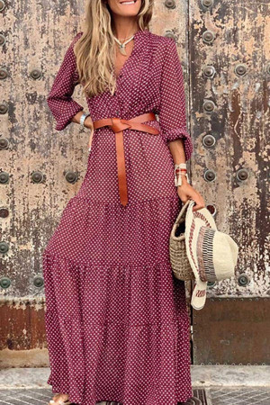 Dot Polka Belt Dress