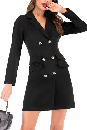 Double Breasted Blazer Dress