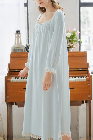 Square Neck Cotton NightDress