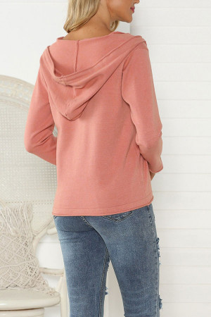 Drawstring Single Breasted Sweatshirt