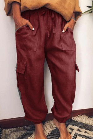 Flap Pockets Jogger Pants