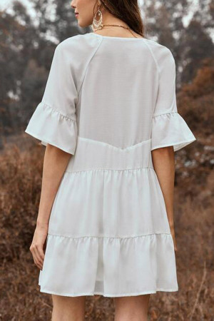 Flare Sleeve A-line Dress
