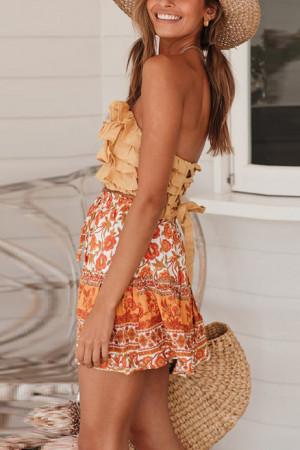Floral A-line Short Skirt