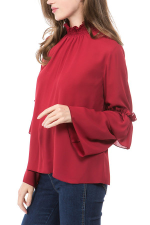 Flounce Long Sleeves Top