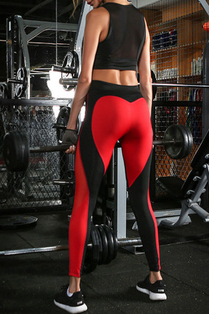 Heart Patched Gym Leggings