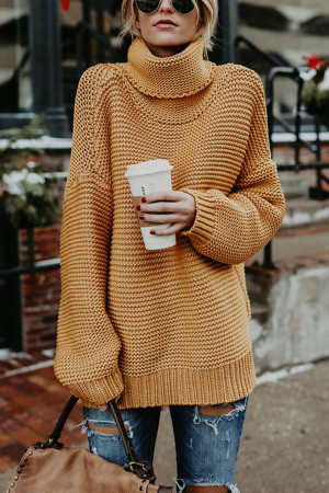 Knit High Neck Sweater