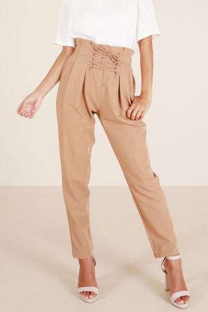 Khaki Strappy Harlem Pants