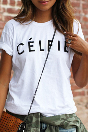 Letter Print Loose T-shirt