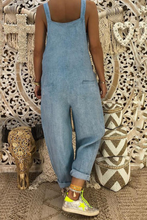 Loose Denim Jumpsuit