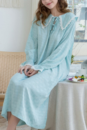 Loose Drawstring Cotton Nightdress