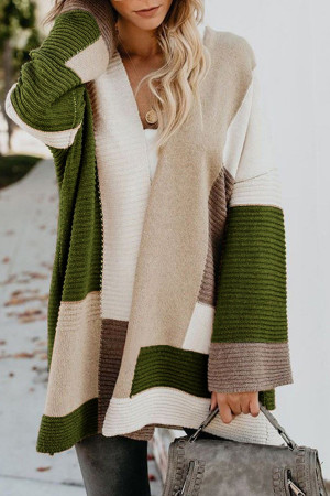 Loose Geometric Cardigan