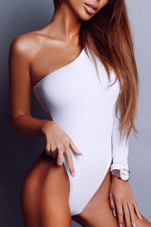 One Shoulder Pull On Bodysuit