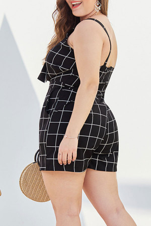 Plaid Spaghetti Straps Jumpsuit