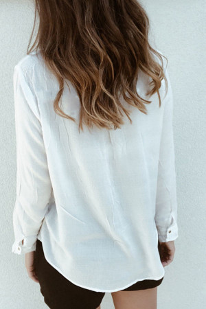 Plain Casual Ruffle Shirt
