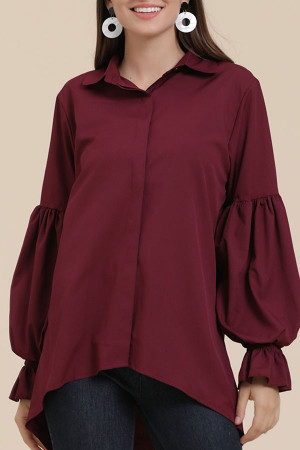 Plain High Low Shirt