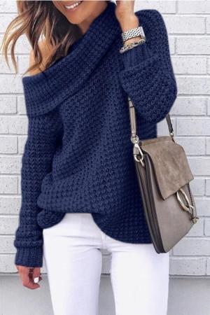 Plain Loose Turtleneck Sweater