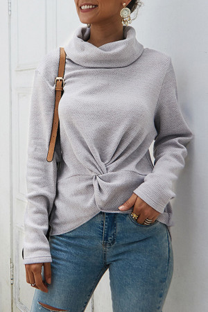 Plain Turtleneck Sweater