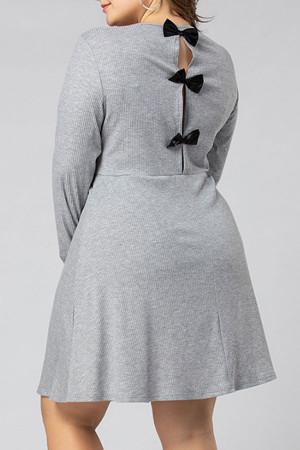 Plus Size Knot Back Dress