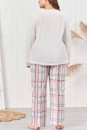 Plus Size Plaid PJ Set
