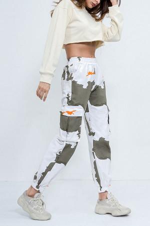 Pockets Patch Camo Pants
