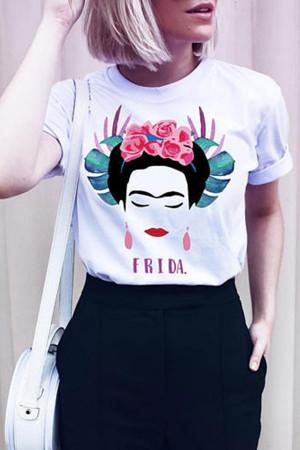 Print Round Neck T-shirt