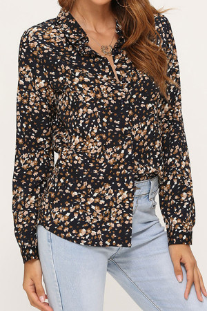 Printed Button Up Shirt