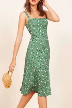 Printed Buttoned Up Dress