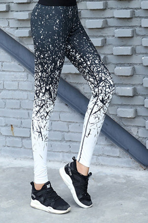 Printed High Waisted Sports Leggings
