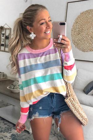 Rainbow Pinstripe T-shirt