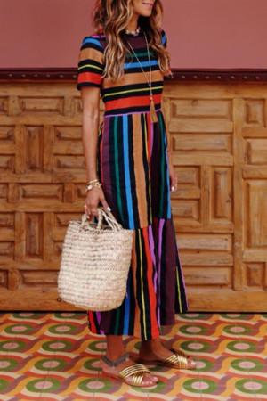 Rainbow Scoop Tee Dress