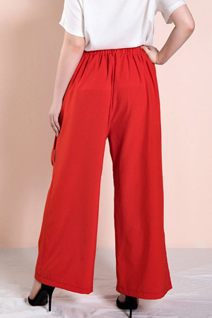 Retro Bowknot Plus Size Pants