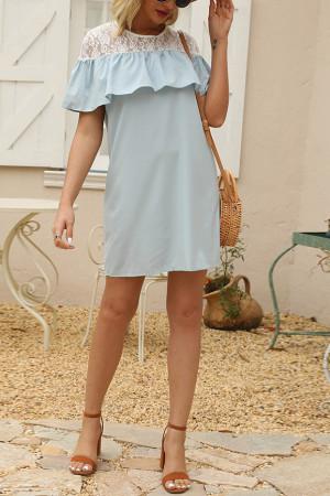 Ruffle Lace Tunic Dress