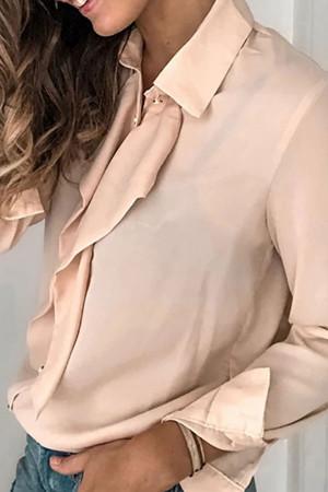 Ruffle Long Sleeve Shirt