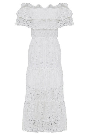 Sashes Cut Out Lace Dress
