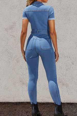 Sashes Denim Jumpsuit